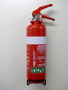 Caravan-fire-extinguisher